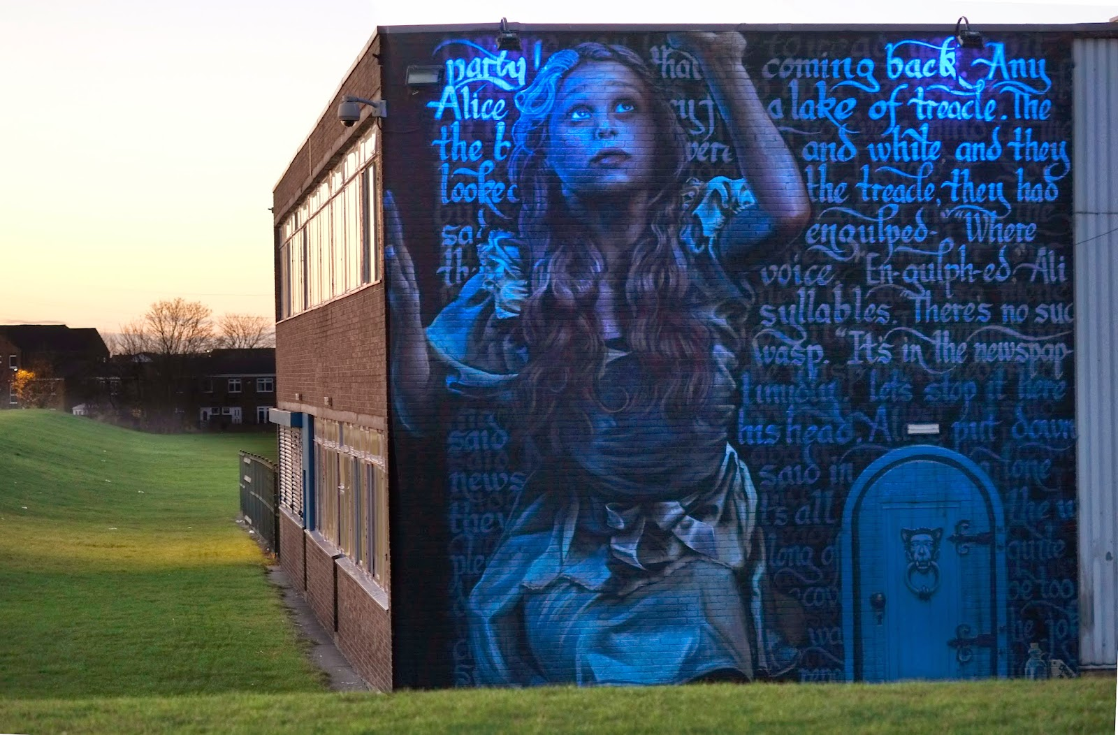 Alice in Chuterland UV Street Art Graffiti